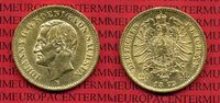Sachsen German Empire Kingdom of Saxonia 20 Mark Goldmünze Kursmünze Sachsen 20 Mark Gold 1873 E König Johann J. 259