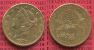 USA 20 Dollars Goldmünze Double Eagle USA 20 Dollars Liberty, Frauenkopf, Double Eagle 1879 S Gold, sehr schön