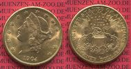 USA 20 Dollars Gold Liberty  Double Eagle 1904 vz-prfr USA 20 Dollars Li... 1379,00 EUR