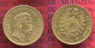 Hessen, German Empire  20 Mark Goldmnze Kursmnze Hessen 20 Mark Gold 1873 Ludwig III.  J. 214