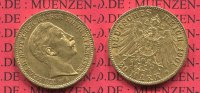 Preußen, State of Prussia German Empire 20 Mark Goldmünze Kursmünze Preußen 20 Mark Gold 1901 A Wilhelm II.  J. 252