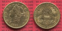 USA 20 Dollars Goldmnze Double Eagle 1891...