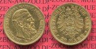 Preußen, State of Prussia German Empire 20 Mark Goldmünze Kursmünze Preußen 20 Mark Gold 1888 Friedrich III.  J. 248, Kursmünze