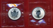 Kanada, Canada 5 Dollars Silbermnze Maple Leaf Kanada 1 Unze Maple Leaf 5 Dollars Privy Mark 2001 Schlange Lunar