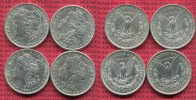 USA 4 x 1 Dollar Morgan Typ USA 1889, 1896, 1900, 1921 1 Dollar Morgan Typ Silber