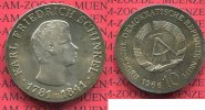 DDR 10 Mark DDR Silber Gedenkmnze 1966 f....