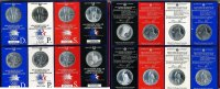 USA 8 x 1 Dollar Silber 1983 & 1984 Stgl u...