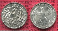 Weimarer Republik Deutsches Reich 3 Mark Silber Gedenkmünze Commemorativ... 135,00 EUR