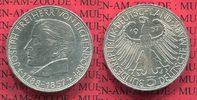 Bundesrepublik Deutschland, Germany FRG 5 DM Gedenkmünze Commemorative Coin BRD 5 DM 1957 100. Todestag von Eichendorff