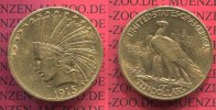 USA 10 Dollars Eagle Indian Head 1915  seh...