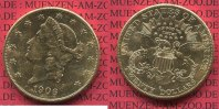 USA 20 Dollars Gold Double Eagle USA 20 Dollars 1906 S Gold Liberty Frauenkopf  Typ Double Eagle