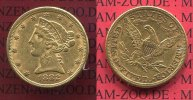 USA 5 Dollars Half eagle 1882 ss-vz USA 5 ...