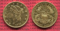USA 20 Dollars Gold Liberty  Double Eagle ...