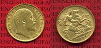 England, Great Britain, UK Half Sovereign Goldmünze 1909 ss+ in Kapsel E... 175,00 EUR