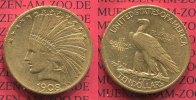 USA 10 Dollars Eagle Indian Head 1908 sehr...