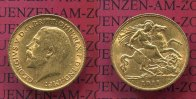England  Great Britain UK  Half Sovereign Goldmünze England 1911 Half Sovereign Goldmünze Georg V. St. Georg first year of reign