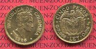 5 Pesos Gold Kursmünze 1925 Kolumbien Columbia Kolumbien 5 Pesos Goldmü... 390,00 EUR