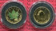 Kanada, Canada 10 Dollar Maple Leaf 1/4 Unze Gold Kanada 10 Dollars Maple Leaf 1/4 Unze Gold 2000 Privy Mark Feuerwerk u Farbe