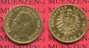 Baden, German Empire State of Baden 5 Mark Goldmünze Baden 5 Mark Gold 1877 G Friedrich