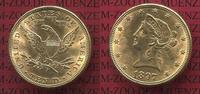 USA 10 Dollars Gold,  Eagle Coronet Head 1897 f. vz, kl. fleck USA 10 Do... 725,00 EUR
