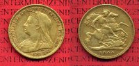 England  Great Britain UK Australien Half Sovereign Goldmünze 1900 sehr ... 175,00 EUR