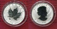 Kanada, Canada 5 Dollars Silbermünze Maple Leaf Kanada 1 Unze Maple Leaf 5 Dollars Privy Mark Ox Ochse 2009