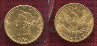 10 Dollars Goldmünze Eagle Coronet Head 1894 USA USA 10 Dollars Liberty... 617,28 EUR  +  8,50 EUR shipping