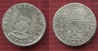 Mexico, Mexiko unter Spanien 8 reales Silbermünze Wappen m. Säulen Mexiko unter Spanien 8 Reales 1737 Mo mo, Pillar Dollar Typ