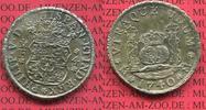 4 reales Silbermünze Wappen m. Säulen 1740 Mexico, Mexiko unter Spanien... 695,00 EUR  +  8,50 EUR shipping