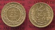 20 Francs Goldmünze für Tunesien 1889 Frankreich, France Tunesien Tunes... 260,00 EUR