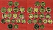 17 vergoldete Euro Gedenkmünzen versch. Jahre BRD, Belgien, Österreich ... 155,00 EUR