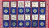 Bundesrepublik Deutschland, Germany FRG Die Ersten sechs 5 DM Gedenkmünzen Die Ersten Sechs 5 DM Gedenkmünzen Museum Schiller Markgraf Eichendorff Fichte