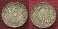 3 Mark Silber Kursmünze 1911 Lübeck City 3 Mark Freie und Hansestadt Lü... 199,00 EUR