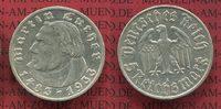 III. Reich 5 Reichsmark Silbermünze III. Reich 5 Reichsmark 1933 A, 450. Geburtstag von Martin Luther J. 353