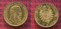 Preußen, State of Prussia German Empire 10 Mark Goldmünze Preußen 10 Mark Gold 1888 J. 247 Friedrich III.