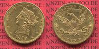 10 Dollars Goldmünze Eagle Coronet Head 1893 USA USA 10 Dollars Liberty... 640,00 EUR