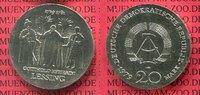 DDR, GDR Eastern Germany 20 Mark DDR Silbermünze DDR 20 Mark 1979 A Silber, 250. Geburtstag von Gotthold Ephraim Lessing