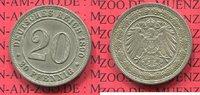 20 Pfennig Kursmünze 1890 E Kaiserreich German Empire 20 Pfennig Cu/Ni,... 80,00 EUR  +  8,50 EUR shipping