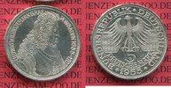 Bundesrepublik Deutschland, FRG 5 DM Gedenkmünze Silber 5 DM 1955 G, 300. Geburtstag Ludwig Wilhelm  Markgraf v. Baden sog. Türkenlouis