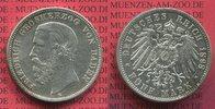 5 Mark 1898 Baden Baden 5 Mark 1898, Großerzog Friedrich, Silber,  J. 2... 100,00 EUR  +  8,50 EUR shipping