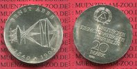 DDR Eastern Germany GDR 20 Mark Silbermünze DDR DDR 20 Mark 1980 Silber, 75. Todestag von Ernst Abbe