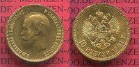 10 Rubel 1901 Russland Russia Nikolaus II. Gold f. vz l. berieben  410,00 EUR  +  8,50 EUR shipping