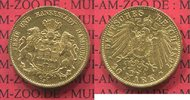 20 Mark Goldmünze 1897 J Hamburg, German E...