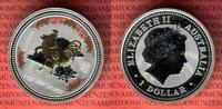 1 Dollar Silbermünze 2005 Australien Year of the Rooster - Jahr des Hah... 79,00 EUR  excl. 8,50 EUR verzending