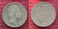 2 Mark 1876 Bayern König Ludwig II. ss  75,00 EUR  +  8,50 EUR shipping