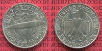 3 Mark 1930 A Weimarer Republik Gedenkmünze Zeppelin Weltflug LZ 127 19... 80,00 EUR  + 8,50 EUR frais d'envoi