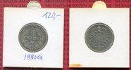 1 Mark Silber kleiner Adler 1880 G Kaiserreich Jahrgang Key Date s-ss  49,00 EUR  +  8,50 EUR shipping
