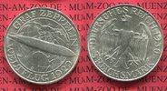 3 Mark 1930 D Weimarer Republik Gedenkmünze Zeppelin Weltflug LZ 127 19... 110.45 US$ 99,00 EUR  +  9.48 US$ shipping