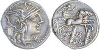Denar 134 v.Chr. Rom,Marcus Marcius  Vorzüglich  185,00 EUR
