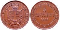 5 Centesimi 1859 Italien,Toscana  Winz.Randfehleer,vz  75,00 EUR